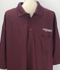 CORNER STONE Burgundy Short Sleeve Collared Men's Polo Shirt The District Sz 3XL