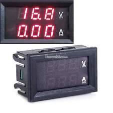 DC 0-100V 0-10A LED Digital Voltmeter Amperemeter Spannung Strom Panel rot SH