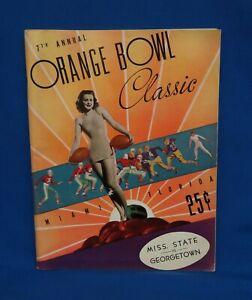 1941 Orange Bowl Football Program Auburn vs Mississippi State
