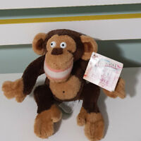 MADAGASCAR MONKEY PLUSH TOY SOFT TOY BEANS IN BUM CHARACTER TOY! 15CM! RUSS