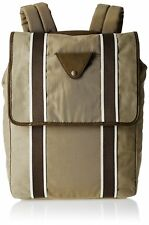 NEW FOSSIL LANE RUCHSACK KHAKI+BROWN CANVAS+LEATHER,TOP FLAP,BACKPACK BAG