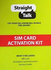 Straight Talk NANO SIM Card Kit for AT&T GSM ATT ios Android StraightTalk