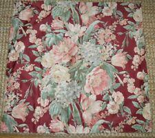 1 Ralph Lauren Desert Plains Floral Deep Red Cotton Euro Pillow Sham