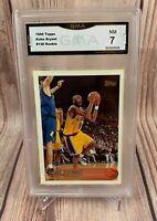 1996 Topps Kobe Bryant Rookie #138 GMA 7 NM Los Angeles Lakers