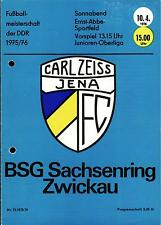 OL 75/76 FC Carl Zeiss Jena - BSG Sachsenring Zwickau, 10.04.1976