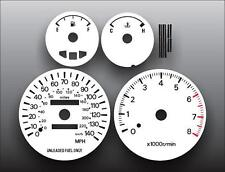 1996-1998 Mitsubishi Galant Dash Cluster White Face Gauges 96-98