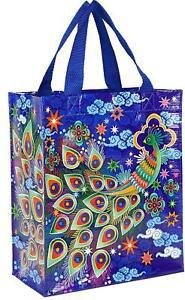 Blue Q Peacock Shopper Bag