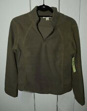 New Gift Winter Fleece Top Snow Women Long Sleeve Size S Cotton Brown Olive