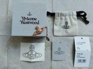 BNWT Authentic Vivienne Westwood Orb Mini Bas Relief Rose Gold Tone Bracelet