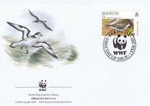 WWF041) WWF Panda, FDC, Birds, Bermuda 1st Feb, 2001, set of 4