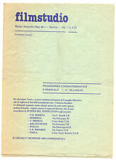 Programma Proiezioni Cinema Program Projections-Cinema  filmstudio Savona 1977
