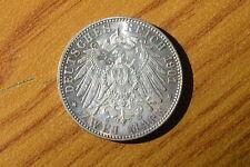 MONETA GERMANIA DEUTSCHES REICH 3 MARCHI ZWEI MARK 1901 WILHELM II SUBALPINA