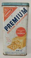 Vintage 1969 NABISCO Premium Saltine Cracker Crackers Tin Container 14 oz size