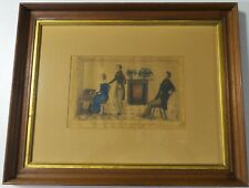 19TH C ANTIQUE PRIMITIVE FOLK ART PORTRIAT PAINTING-YOUNG GIRL PLAYING PIANO N/R