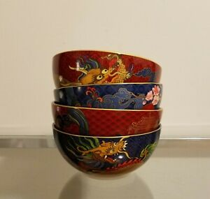 Williams Sonoma Lunar New Year Noodle Bowls Set of 4 Mixed NEW