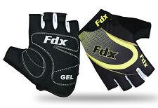 FDX Cycling Gloves Half Finger Gel Foam Padded Bike Fingerless Gloves Lightweigh