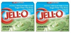 Jello Sugar Free Pistachio Instant Pudding & Pie Filling Mix 2 Pack