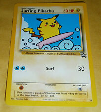 POKEMON BLACK STAR PROMO CARD - #28 SURFING PIKACHU - RARE