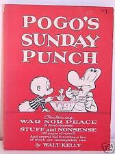 POGO'S SUNDAY PUNCH SOFTBACK, 1st ED. WALT KELLY ART