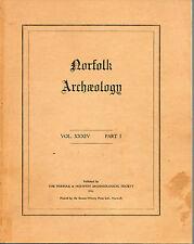 NORFOLK ARCHAEOLOGY VOLUME 34 PART 1 PAPERBACK 1966