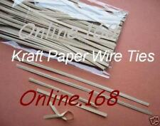 "Quality Kraft Paper Wire Ties Twist Ties 6""/150mm 100ps"