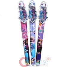Disney Frozen Elsa Anna Ball Point Pen Set 3pc Black Ink Refillable