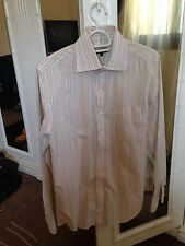 DKNY White Striped Shirt With Pocket Size S