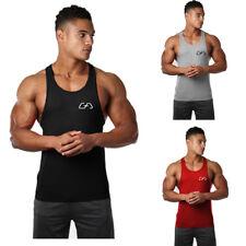 Men Sleeveless Bodybuilding Shirt Tank Top Tee Gym Singlet Fitness Sport Vest UK