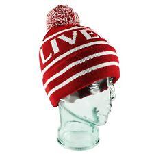 Liverpool Red & White Bobble Hat Gift Souvenir