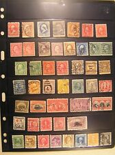 92 Used United States Postage Stamp Lot * Several Pre- 1900
