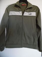 PUMA Full Zip Track Jacket Sweatshirt Olive Green Women's Size L