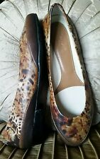 NEW ICON LOS ANGELES $270 TWO COUGARS ANIMAL LOVERS BROWN BALLET FLATS 42 10.5
