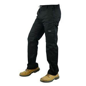 Mens Combat Cargo Work Trousers Black Siz 30 to 48 black cargo Work  trouser