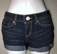 Women's Juniors Size 000 Aeropostale Stretch MIDI Blue Jean Shorts. H4