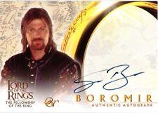 Lord of the Rings Fellowship FOTR - AUTOGRAPH SEAN BEAN as Boromir
