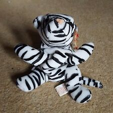 TY Blizzard the White Tiger Beanie Babies MWMT Retired Free UK p+p