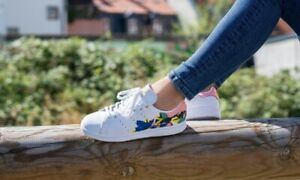 Size US 9.5 Adidas Stan Smith Floral Burst Cloud White/Glow Pink/Gold Metallic