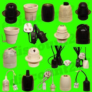 CE CERTIFIED ES E27 EDISON Light Bulb Socket LED Lamp Holder Fitting UK SELLER.