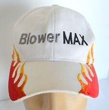 BlowerMax Hat 2008 Chevy Silverado Truck White Flames Mens Baseball Ball Cap Lid