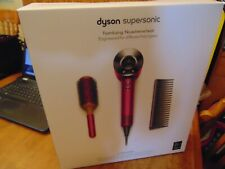 new unopened dyson supersonic limited edition hair dryer w/styling set fuchsia