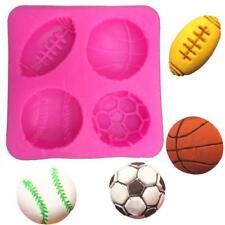 Football Basketball Tennis Cooking Tools Silicone Mold Fondant DIY Cake New