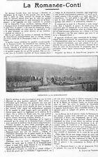 ROMANEE-CONTI NUITS-SAINT-GEORGES CHARLES VIENOT PREMEAUX RAISINS CHALLAND 1923