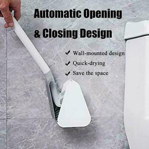 Wall Mounted Toilet Brush Golf Brush Head Bathroom Corner Cleaning Set I6L9