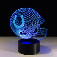 Indianapolis Colts 3D LED Lamp Home Decor Gift Andrew Luck Gift Collectible