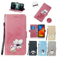 For LG G7 Thinq Q7 Q8 Luxury Leather Flip Card Wallet Stand Phone Case Cover