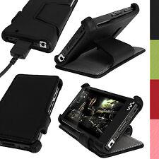 Schwarz PU Leder Tasche Hülle für Sony Walkman NWZ-F886 F887 32/64GB Schutzfolie