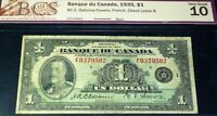 1935 $1 FRENCH BANK OF CANADA