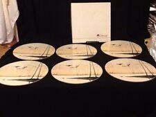 Vintage RARE Set 6 Clover Leaf Table Mats Place Mats Round Duck