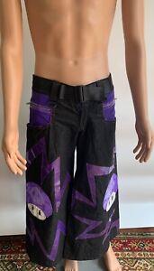 Schminke Clothing Phat Dance Pants Poison Mushroom Rave Reflector Fluorescent
