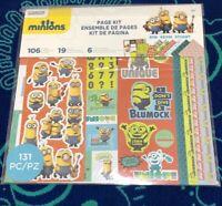 MINIONS Page Kit: Stickers, Die Cuts 12x12 Papers Bob Kevin Stuart 131 Pieces